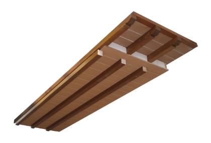 Tetti Prefabbricati in legno simil pianellato